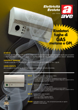 Ave RG1-G Rg1-G-Rivelatore Gas Gpl da Parete
