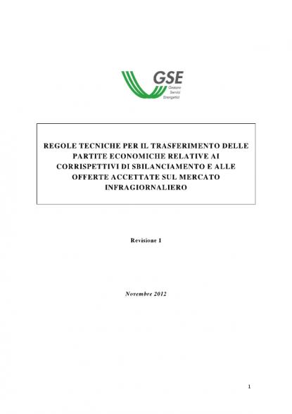 8ba06b92cc Approvate Regole Tecniche GSE sulle modalità di trasferimento dei costi di  sbilanciamento